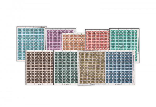 Briefmarken DDR Bogensammlung Flugpost 1892-1987 gestempelt