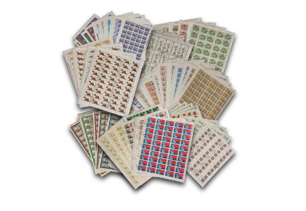 Briefmarken DDR Bogensammlung 100 Bogen gestempelt