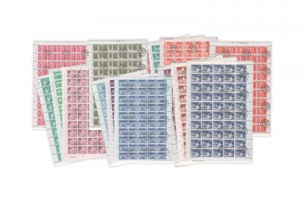 Briefmarken DDR Bogensammlung Große Bauten gestempelt