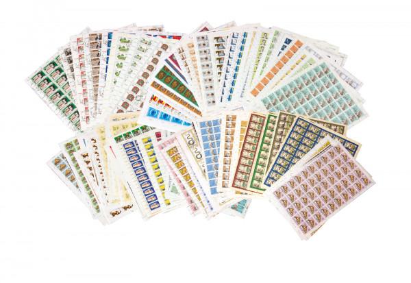 Markenheftchenbogen DDR Bogensammlung III 1970 - 1990 gestempelt