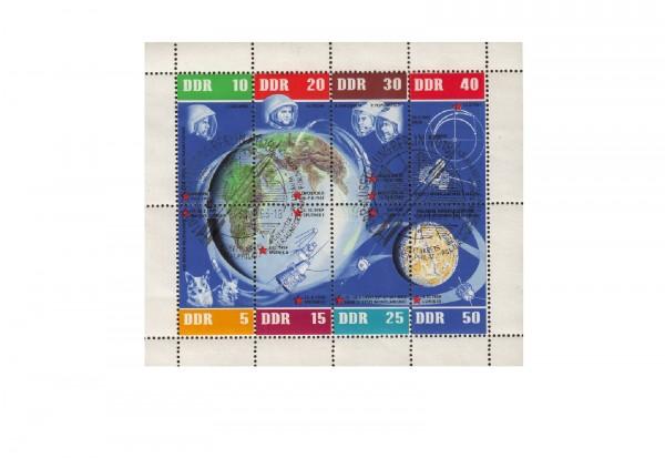 Briefmarken DDR 5 Jahre sowjetische Weltraumflüge 1962 Michel-Nr. 926-933 KB gestempelt