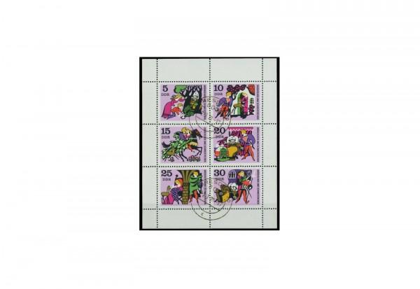 Briefmarken DDR Kleinbogen Michel-Nr. 1545-1550 gestempelt