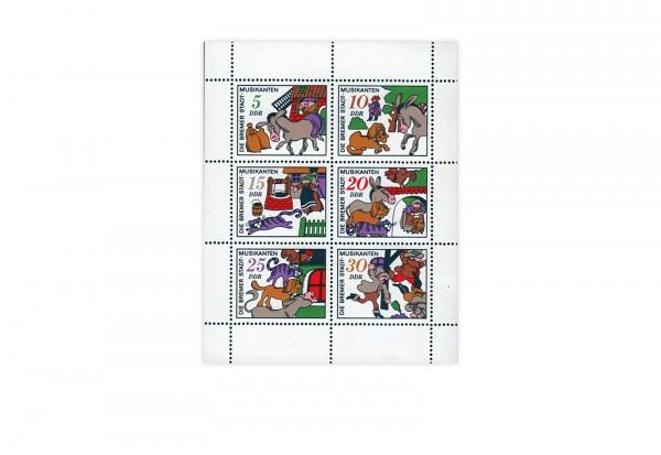 Briefmarken DDR Kleinbogen Michel-Nr. 1717-1722 gestempelt