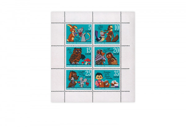 Briefmarken DDR Kleinbogen Michel-Nr. 1807-1812 gestempelt