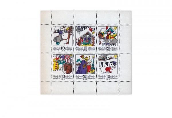 Briefmarken DDR Kleinbogen Michel-Nr. 1995-2000 gestempelt