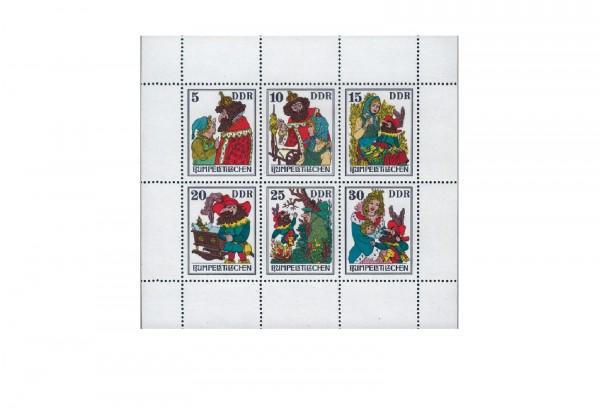 Briefmarken DDR Kleinbogen Märchen Rumpelstilzchen 1976 Michel-Nr. 2187-2192 postfrisch