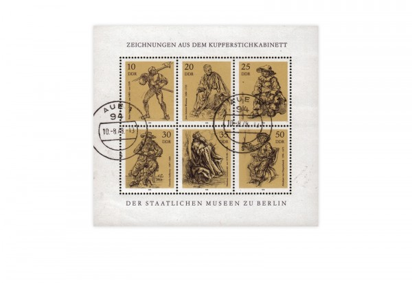 Briefmarken DDR Kleinbogen Michel-Nr. 2347-2352 gestempelt