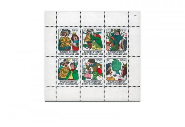DDR Kleinbogen Mi.Nr. 2281-2286 **