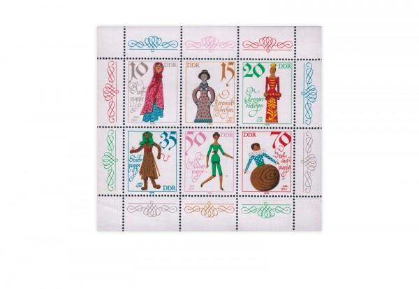 Briefmarken DDR Kleinbogen Historische Puppen 1979 Michel-Nr. 2472-2477 gestempelt