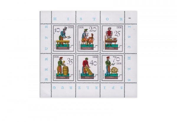 DDR Kleinbogen 1982 Michel Nr. 2758 bis 2763 postfrisch