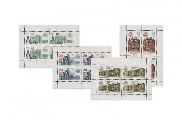 Briefmarken DDR Kleinbogen 1987 Michel-Nr. 3075/3078 gestempelt