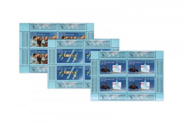 Briefmarken DDR Kleinbogen 1988 Michel-Nr. 3190 bis 3192 postfrisch
