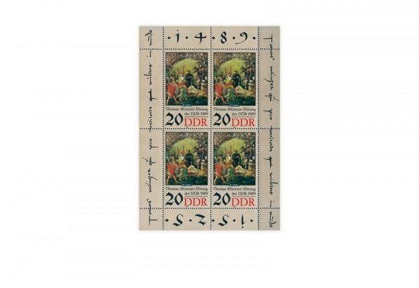 DDR Kleinbogen 1989 Michel Nr. 3271 gestempelt