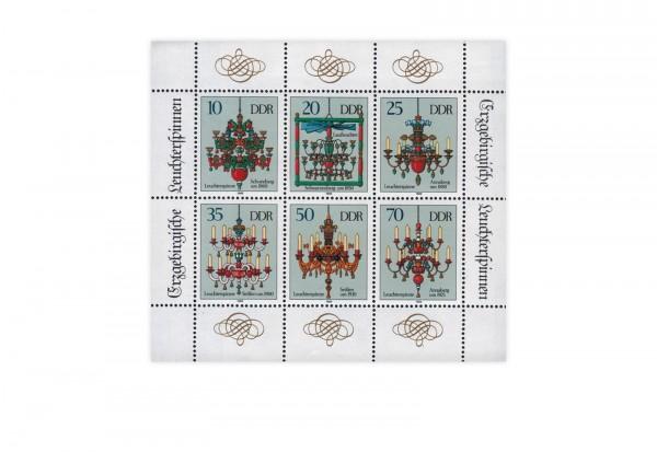 DDR Kleinbogen 1989 Michel Nr. 3289 bis 3294 gestempelt