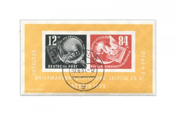 DDR Debria Block 1950 gestempelt