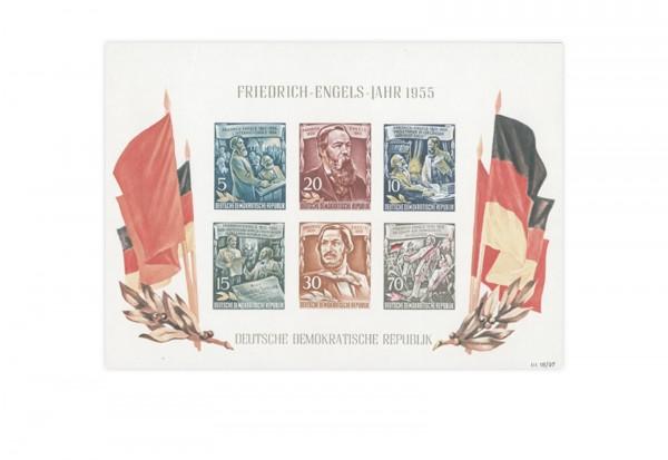 DDR Block 13 postfrisch Friedrich-Engels-Jahr 1955