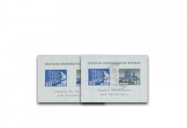 Sonderblock DDR 1963 Chemische Industrie Block 18 postfrisch und gestempelt im Set
