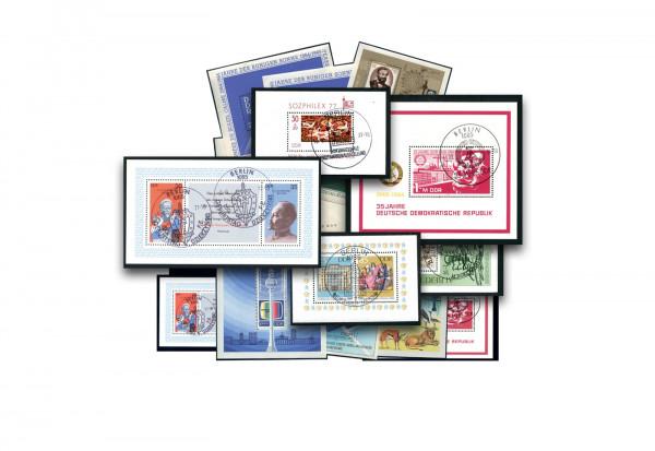 Briefmarken DDR Block-Lot 50 verschiedene Blocks gestempelt