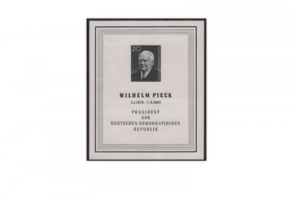 DDR Block 16 1960 Todestag Präsident W. Pieck postfrisch