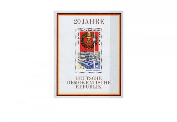 DDR Block 28 20 Jahre DDR 1969 postfrisch