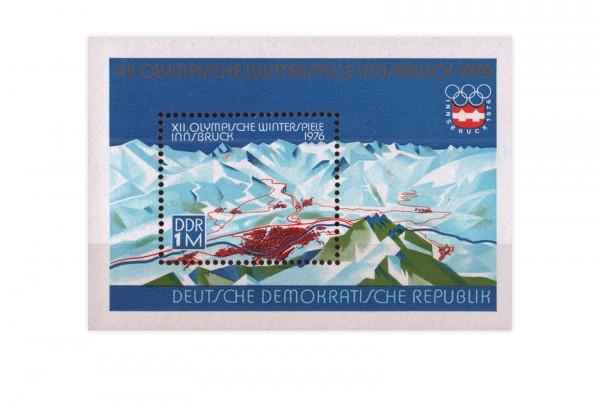 DDR Block 43 Olympische Winterspiele 1976 postfrisch