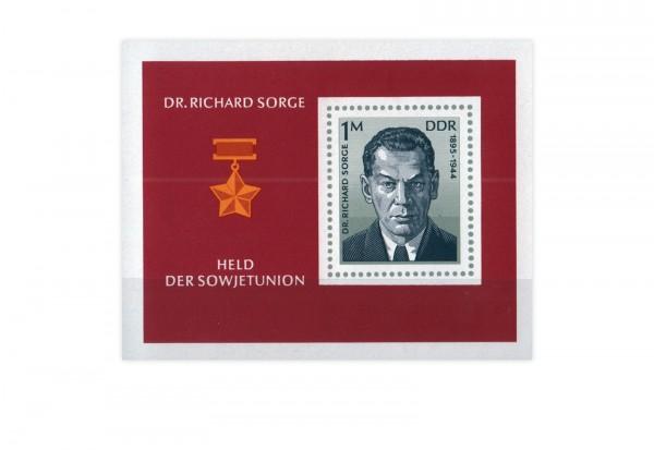 DDR Block 44 Dr. Richard Sorge 1976 postfrisch