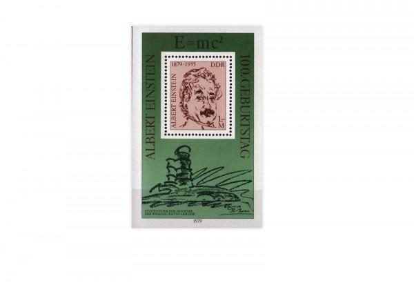 DDR Block 54 100. Geburtstag Einstein 1979 postfrisch