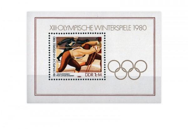 DDR Block 57 Olympische Winterspiele 1980 **