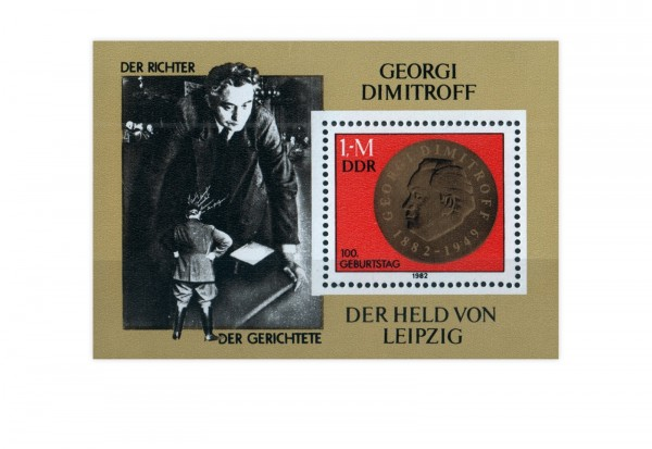 DDR Block 68 100. Geburtstag Dimitrow 1982 postfrisch