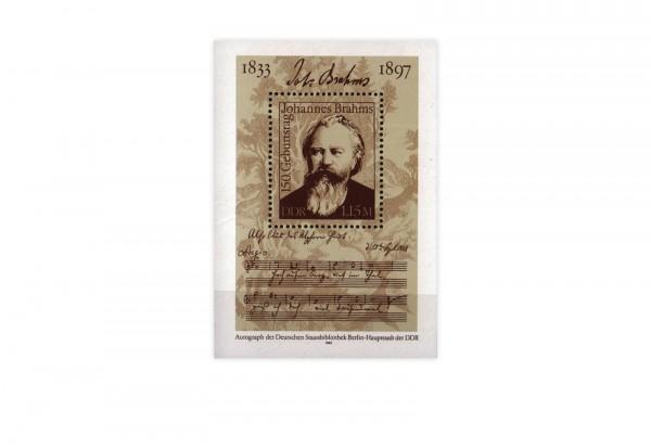 DDR Block 69 150. Geburtstag Brahms 1983 postfrisch
