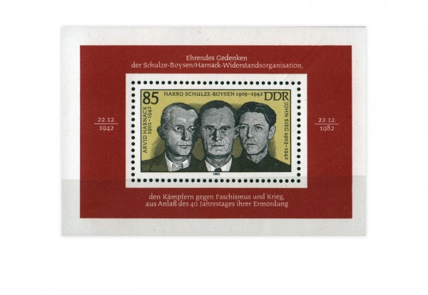 DDR Block 70 Schulze-Boysen/Harnack 1983 postfrisch
