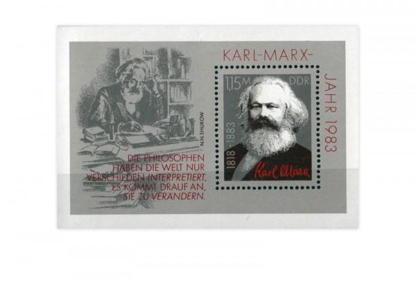 DDR Block 71 Karl Marx 1983 postfrisch