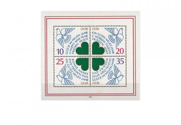 DDR Block 75 Neujahr 1984 **