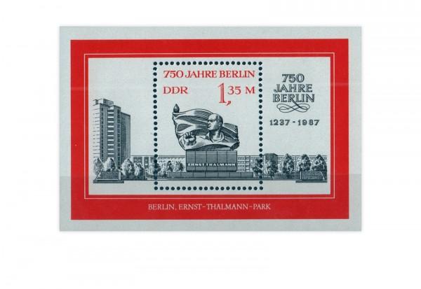DDR Block 89 750 Jahre Berlin (III) Thälmann-Denkmal 1987 postfrisch
