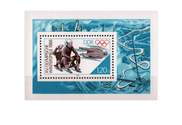 DDR Block 90 Olympische Winterspiele 1988 **
