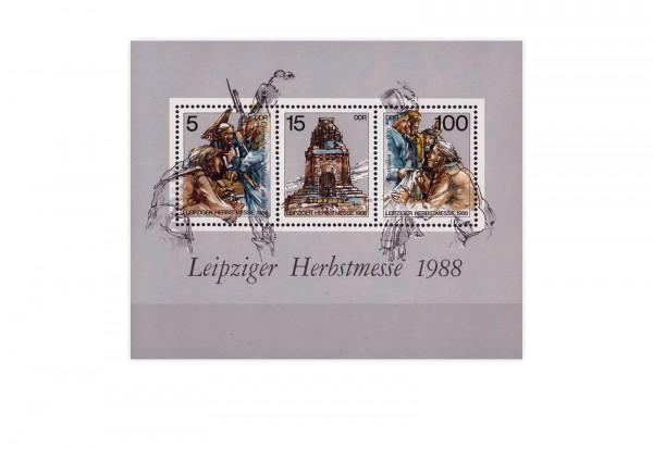 DDR Block 95 Leipziger Herbstmesse 1988 postfrisch
