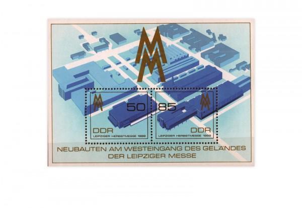 DDR Block 99 Leipziger Herbstmesse 1989 **
