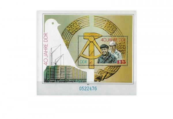 DDR Block 100 40 Jahre DDR 1989 **