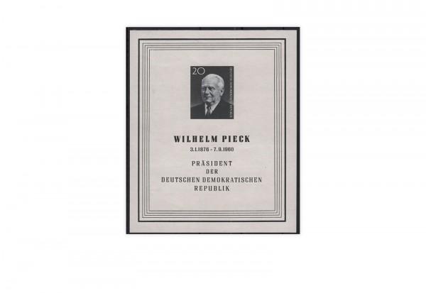 DDR Block 16 1960 Todestag Präsident W. Pieck gest.