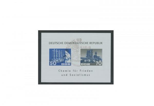 DDR Block 18 Chemische Industrie 1963 gestempelt