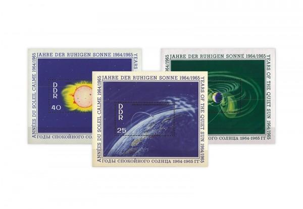 DDR Block 20-22 Internationale Jahre der ruhigen Sonne 1964 gest.