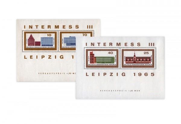 DDR Block 23 und 24 INTERMESS III 1965 gestempelt