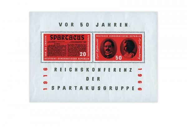 DDR Block 25 Spartakus 1966 gestempelt