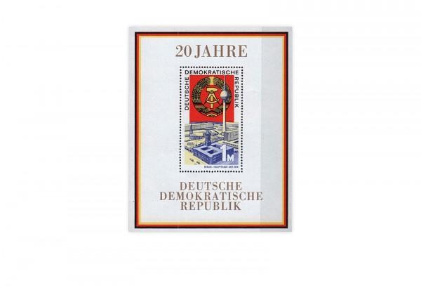 DDR Block 28 20 Jahre DDR 1969 gestempelt