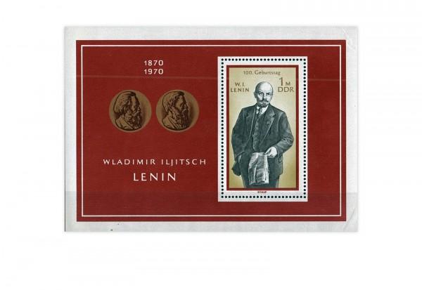 Briefmarken DDR Lenin 1970 Block 31 gestempelt