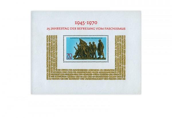 Briefmarken DDR Befreiung vom Faschismus 1970 Block 32 gestempelt