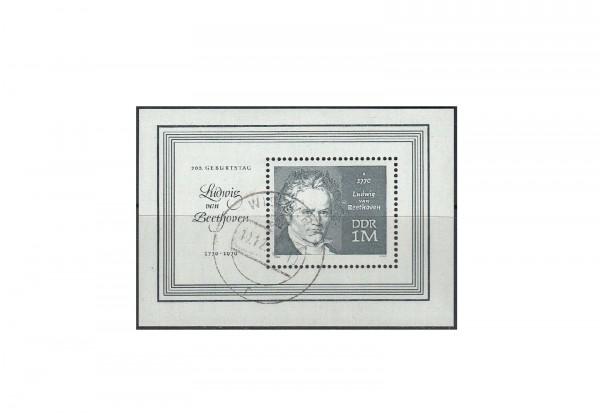 Briefmarke DDR 200. Geburtstag Beethoven 1970 Block 33 gestempelt