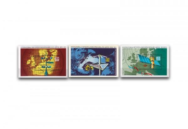 DDR Block 34-36 gestempelt Meteorologen Versammlungen