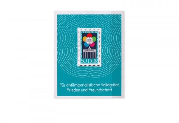 DDR Block 38 Weltfestspiele der Jugend und Studenten gestempelt
