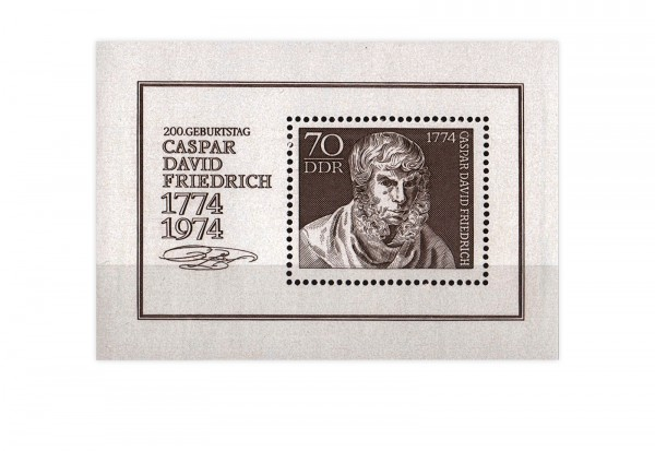 DDR Block 40 Caspar David Friedrich 1974 gestempelt